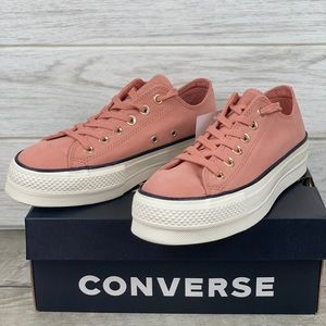 Converse CTAS LIFT OX Pink Blush/ Black/Egret